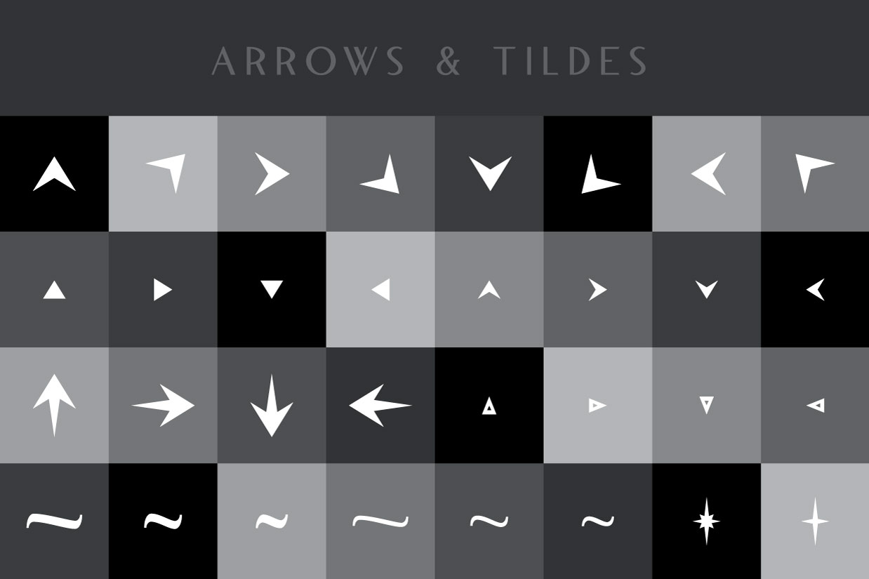 Blacklisted Typeface Arrows
