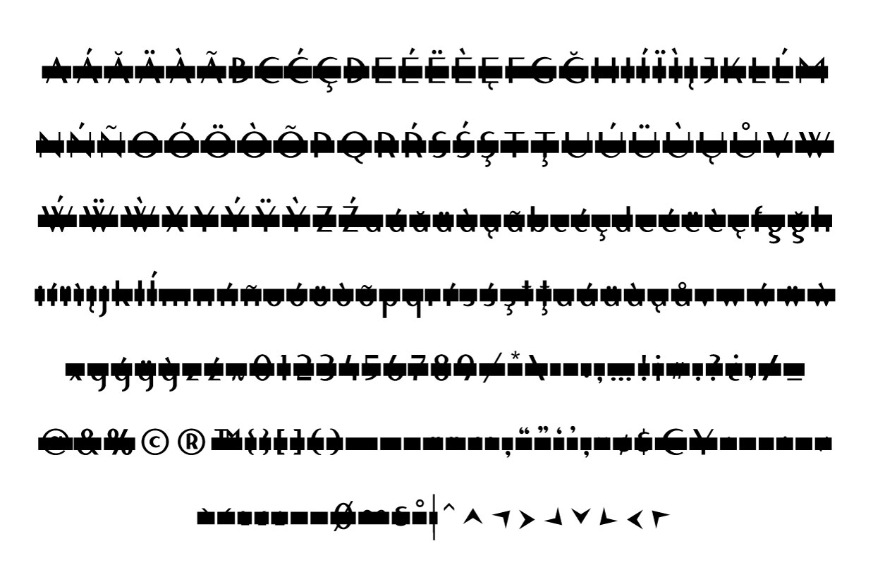 Blacklisted Typeface Censored Characters