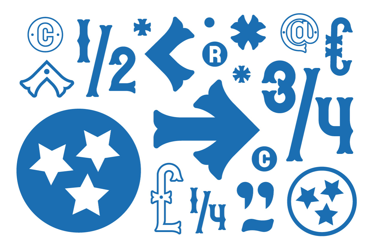 Country Bluegrass Special Glyphs