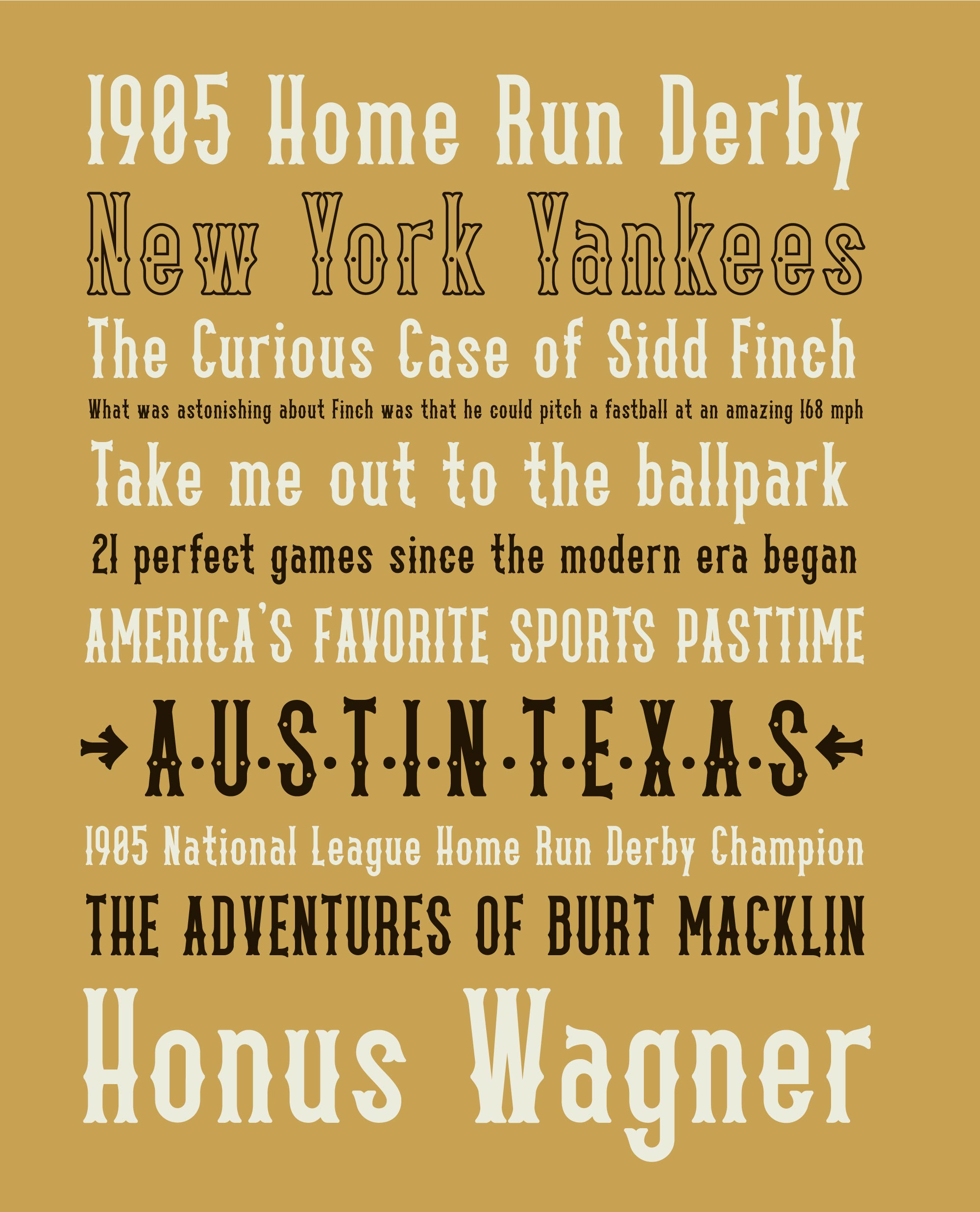 Country Bluegrass Typeface